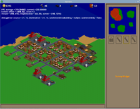 Settlement showing all building graphics that exist at this time.